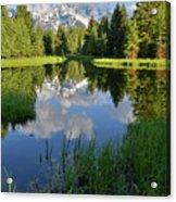 Peaceful Morning In Grand Teton Np Acrylic Print