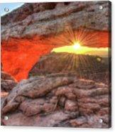 Peaceful Morning - Sunrise At Mesa Arch - Moab Utah Acrylic Print