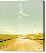 Peaceful Pastel Wind Farm Acrylic Print