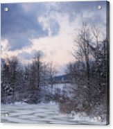 Peaceful Pastels Of A Winter Sunset Acrylic Print