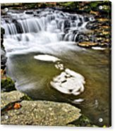 Peaceful Pool Waterfall Acrylic Print