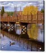 Peaceful Reflections At Drake Park Acrylic Print