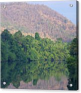 peaceful river in Sangkhlaburi in Thailand Acrylic Print