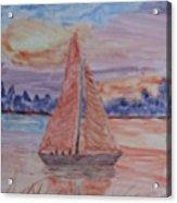 Peaceful Sailing Acrylic Print