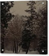 Peaceful Snow Dusk Acrylic Print