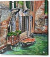 Peaceful Venice Canal Acrylic Print
