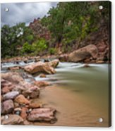 Peaceful Waters Of Zion Acrylic Print