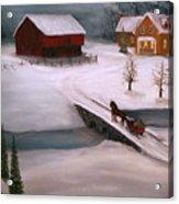 Peaceful Winter Evening Acrylic Print