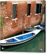 Peacefull Canal Parking Acrylic Print
