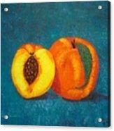 Peach And A Half Acrylic Print