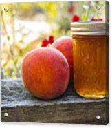 Peach Jelly Acrylic Print