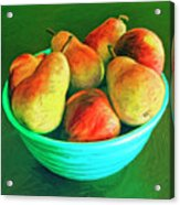 Peaches And Pears Acrylic Print