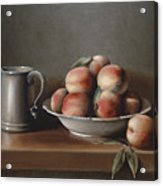 Peaches And Pewter Acrylic Print