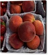 Peaches And Strawberries Acrylic Print