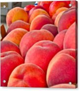 Peaches For Sale Acrylic Print by Gwyn Newcombe