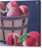 Peaches In A Basket Acrylic Print