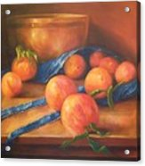 Peaches With Apron Acrylic Print