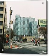 Peachtree And 7th St 2006 Winter Acrylic Print by Jake Hartz