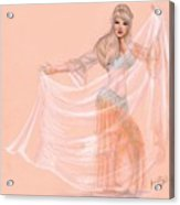 Peachy Dancer Acrylic Print