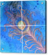 Peacock Feather Abstract Acrylic Print