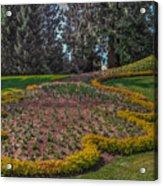 Peacock Garden Acrylic Print