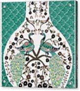 Peacock Love-2 Acrylic Print by Karunita Kapoor