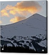 Peak 8 At Dusk - Breckenridge Colorado Acrylic Print by Brendan Reals