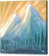 Peaks At Sunrise Acrylic Print