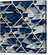 Pealing Paint Fence Abstract 1 Acrylic Print