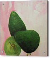 Pear And Avocados Acrylic Print