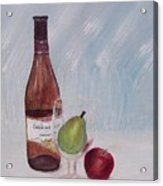 Pear In Glass Acrylic Print