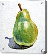Pear Acrylic Print by Irina Sztukowski