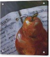 Pear Meets Cookbook Acrylic Print