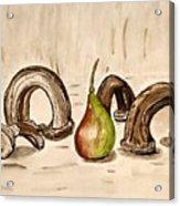 Pear Near Ancient Handle Jar. Acrylic Print