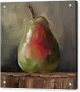 Pear On Wooden Crate Acrylic Print