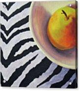 Pear On Zebra Acrylic Print