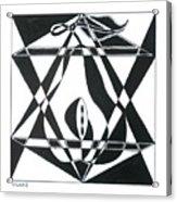 Pear Square Acrylic Print