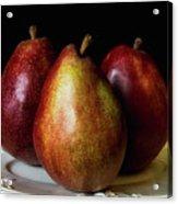 Pear Trio Still Life Acrylic Print
