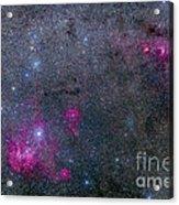 Pearl Cluster And Lambda Centauri Acrylic Print