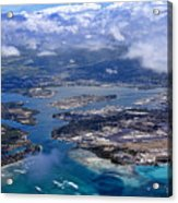 Pearl Harbor Aerial View Acrylic Print