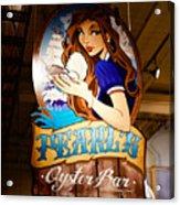 Pearls Oyster Bar Acrylic Print