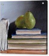Pears And Books Acrylic Print