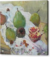 Pears Figs And Young Pomegranates Acrylic Print