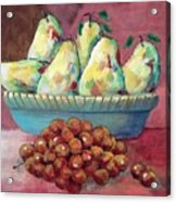 Pears In A Bowl Acrylic Print