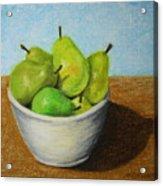 Pears In Bowl 2 Acrylic Print