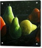 Pears In Darkness Acrylic Print