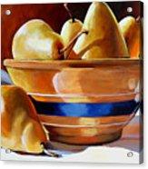 Pears In Yelloware Acrylic Print