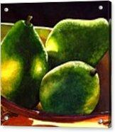 Pears No 2 Acrylic Print