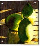 Pears No 3 Acrylic Print