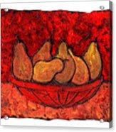 Pears On Fire Acrylic Print